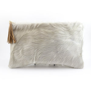 cowhide clutch - large