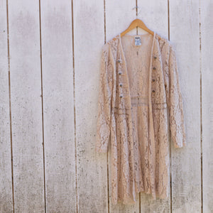 shelby long lace jacket