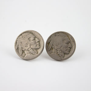 lucky nickel earrings