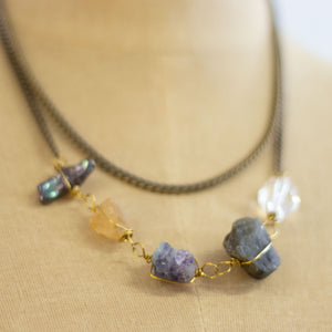 magma wrapped stone necklace
