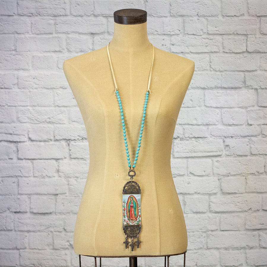 mary tapestry necklace - sl