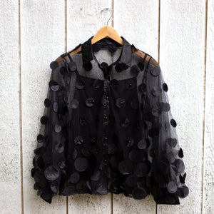 midnight bubbles blouse
