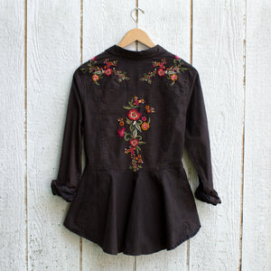 mineral wash embroidered top back