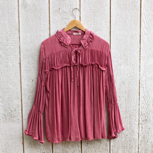vintage rose poet top