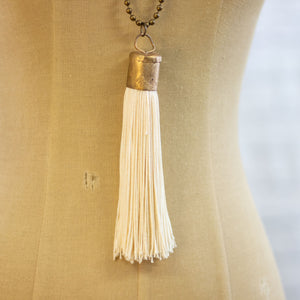 pastel silky tassel necklace