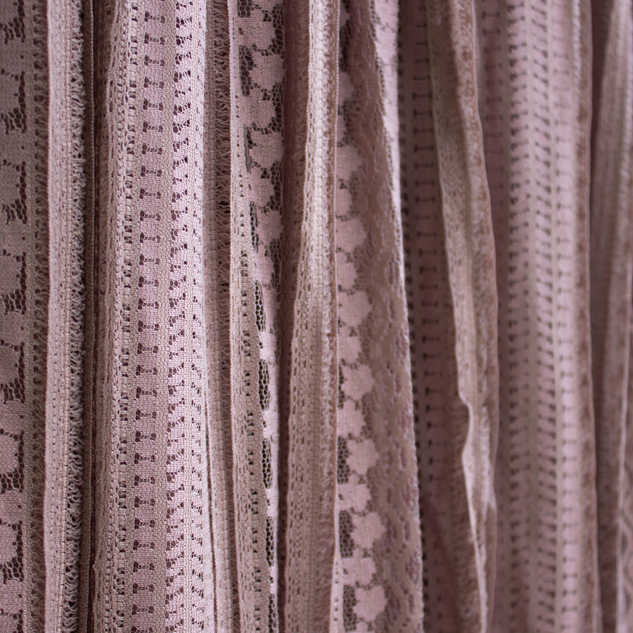 transit taupe lace circle skirt