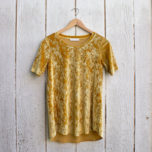 velvet butterscotch tee