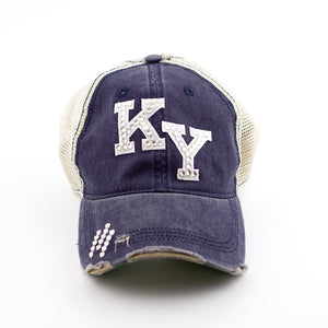 vintage navy kentucky cap