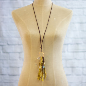 vintage silk tassel necklace
