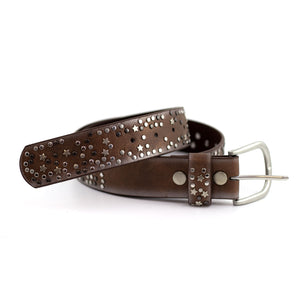 star studded brown belt