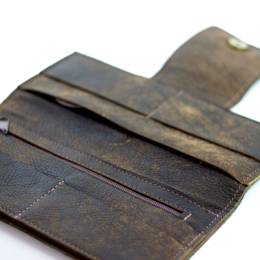 large cowhide wallet/clutch (LV repurposed)