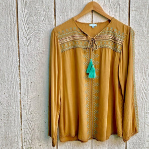 carson beaded embroidered top
