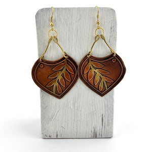 copper vine earrings