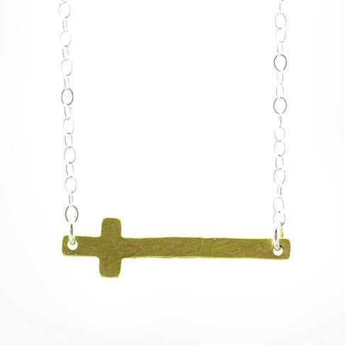 ella jude horizontal cross necklace