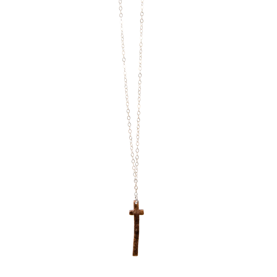 ella jude vertical cross necklace