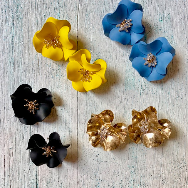 dahlia's in bloom earrings