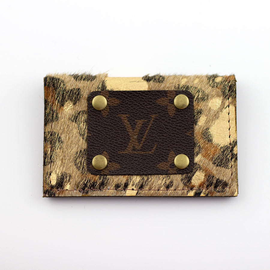 cowhide card holder (LV repurposed)