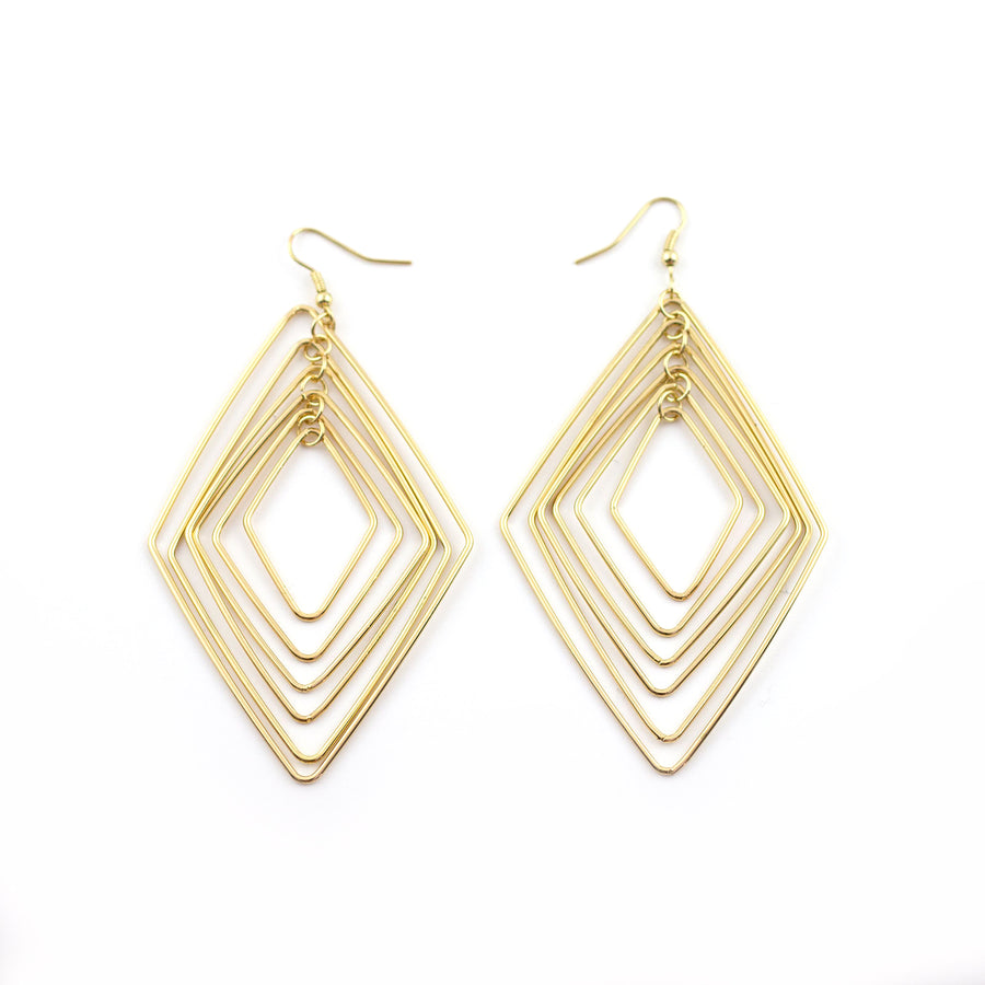 to the wire gold earrings