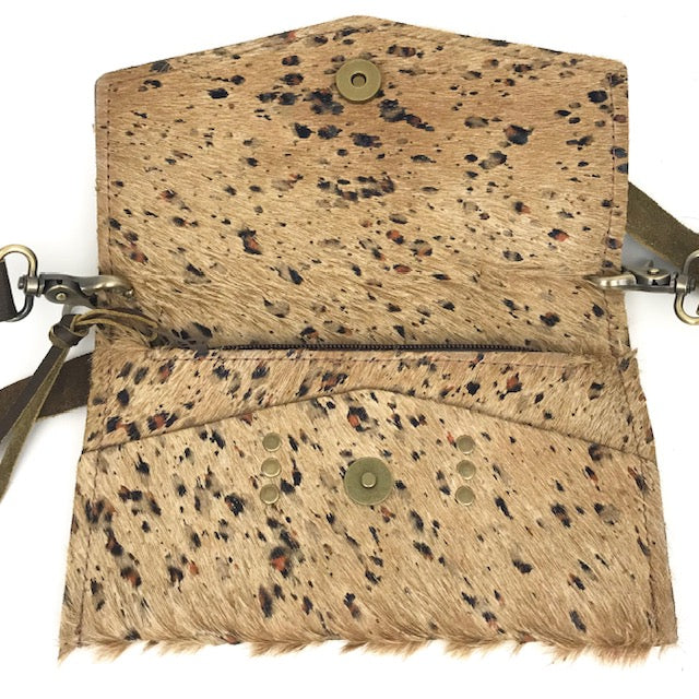 jordan distressed leopard cowhide crossbody
