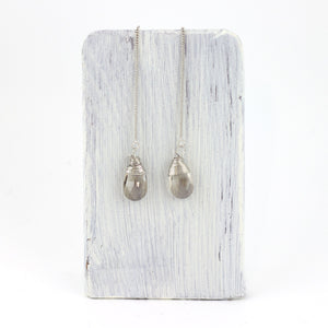 threader crystal drop earrings