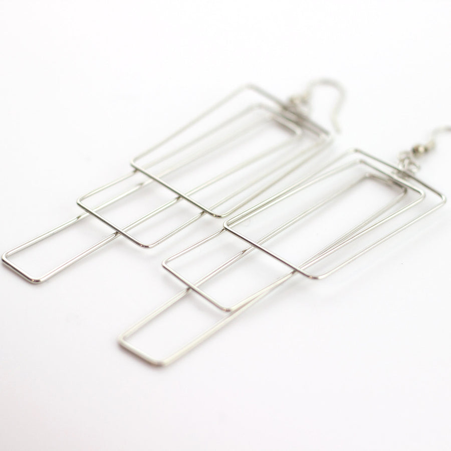 nesting rectangles earrings