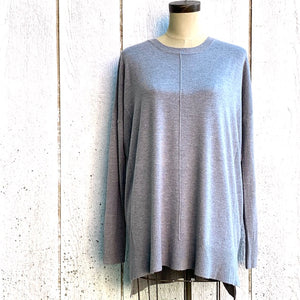 heather crew oversized sweater