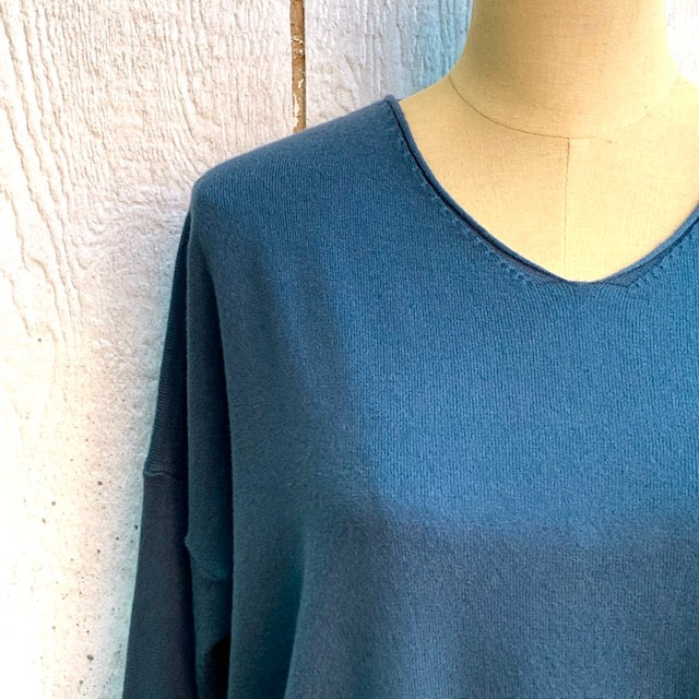 teal oversized vneck sweater