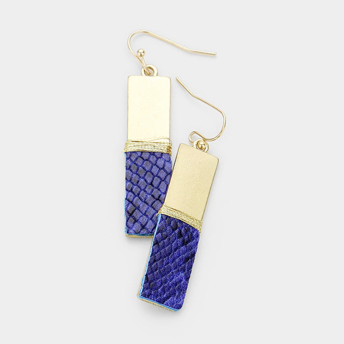 gold & royal snake earrings