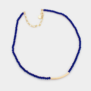 royal tiny beaded necklace