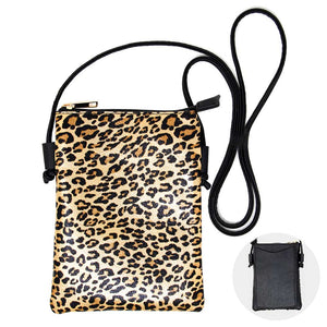 metallic leopard print crossbody