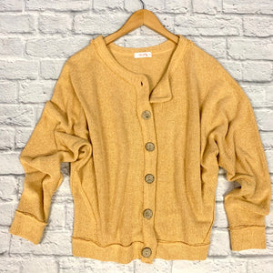 goldenrod oversized cardigan