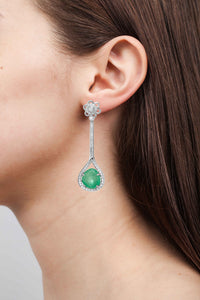 Verity White Gold Dangle Earrings