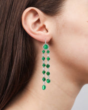 Load image into Gallery viewer, Muisca Long Drop White Gold Earrings