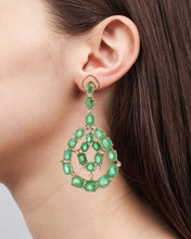 Load image into Gallery viewer, Royal Orb Contemporary Chandelier Earrings