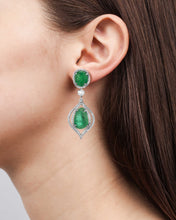 Load image into Gallery viewer, Verity White Gold Drop Earrings