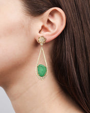 Load image into Gallery viewer, Verity Yellow Gold Drop Earrings