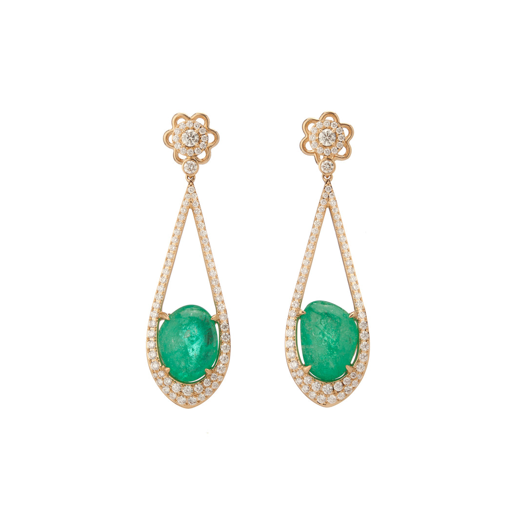 Verity Yellow Gold Drop Earrings