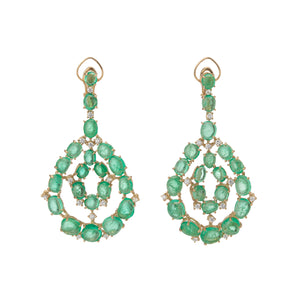 Royal Orb Contemporary Chandelier Earrings