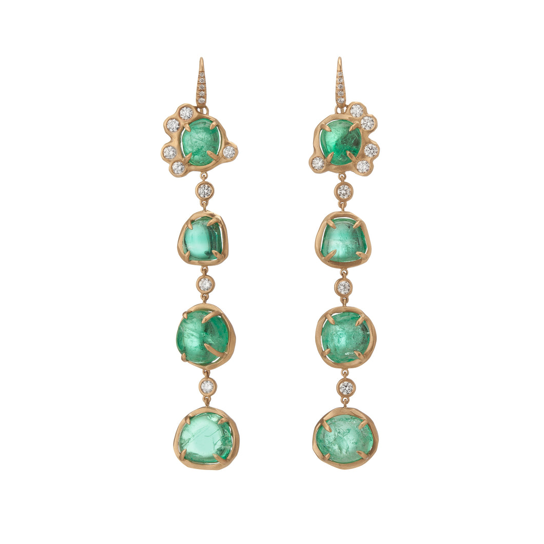 Muisca Yellow Gold Drop Earrings