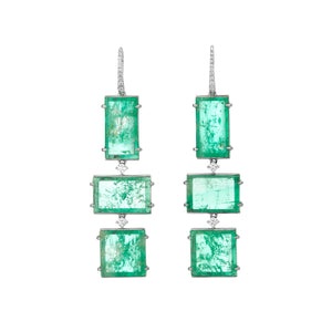 Muzo Atocha White Gold Drop Earrings White Gold Diamond