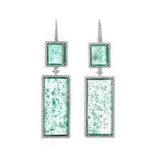 Load image into Gallery viewer, Muzo Atocha Drop Earrings White Gold