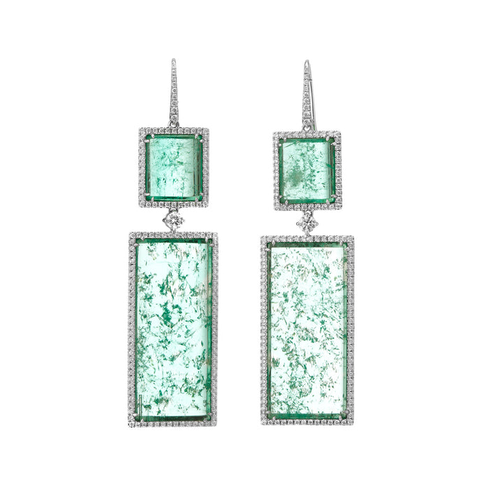 Muzo Atocha Drop Earrings White Gold