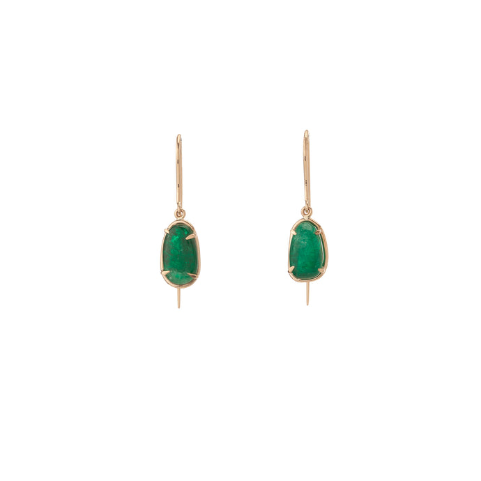 Muzo Chakana Classic Drop Earrings Yellow Gold