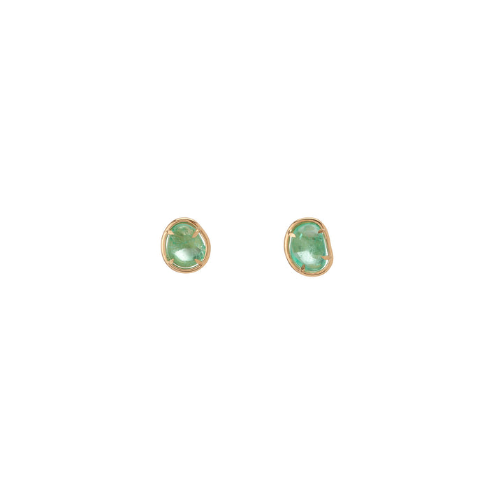 Muzo Chakana Classic Stud Earrings Yellow Gold