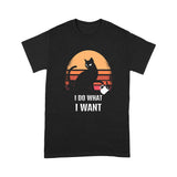 Cat I Do What I Want Lovely Cute Funny Print T shirt