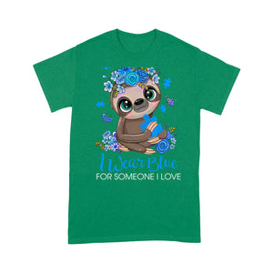 Sloth Autism Awareness Design Tshirt