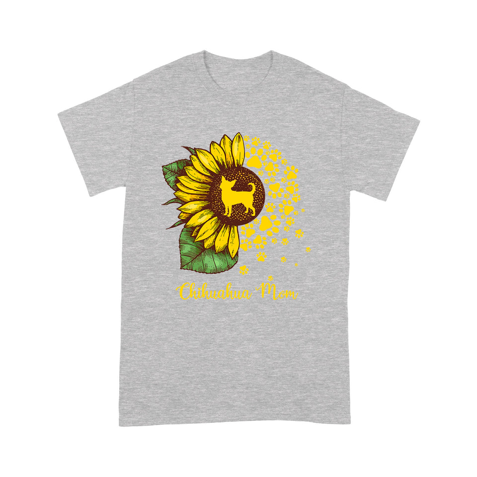 Chihuahua Mom Dog Sunflower T shirt