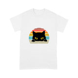 Cat Rainbow Vintage Lovely Cute Funny Print T shirt