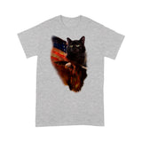USA Black Cat T Shirt Beautiful