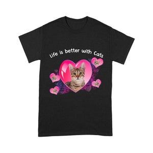 Life Is Better With Bengal Cat T Shirt Funny